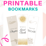 Pretty Printable Bookmarks - free printable | Get lost in a good book | Note to self relax | Just one more chapter