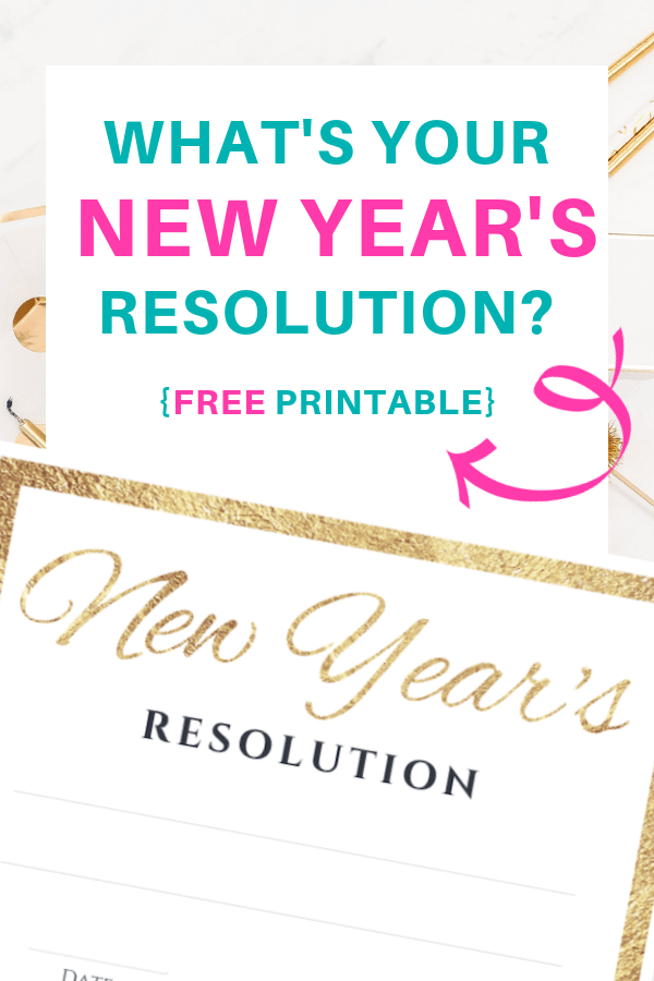 New Year\'s Resolution - free printable | New year\'s resolution | Achieve your goals | Keep your promise | Feel good printables | Pretty Printables | Free printable | Tags and Labels | Make Dreams Reality | SaturdayGift | Saturday gift #SaturdayGift