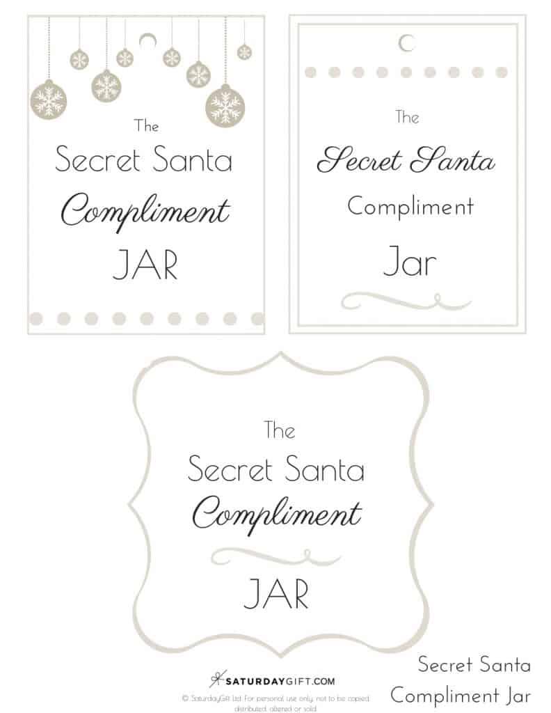 How To Create A Cute Secret Santa Compliment Jar