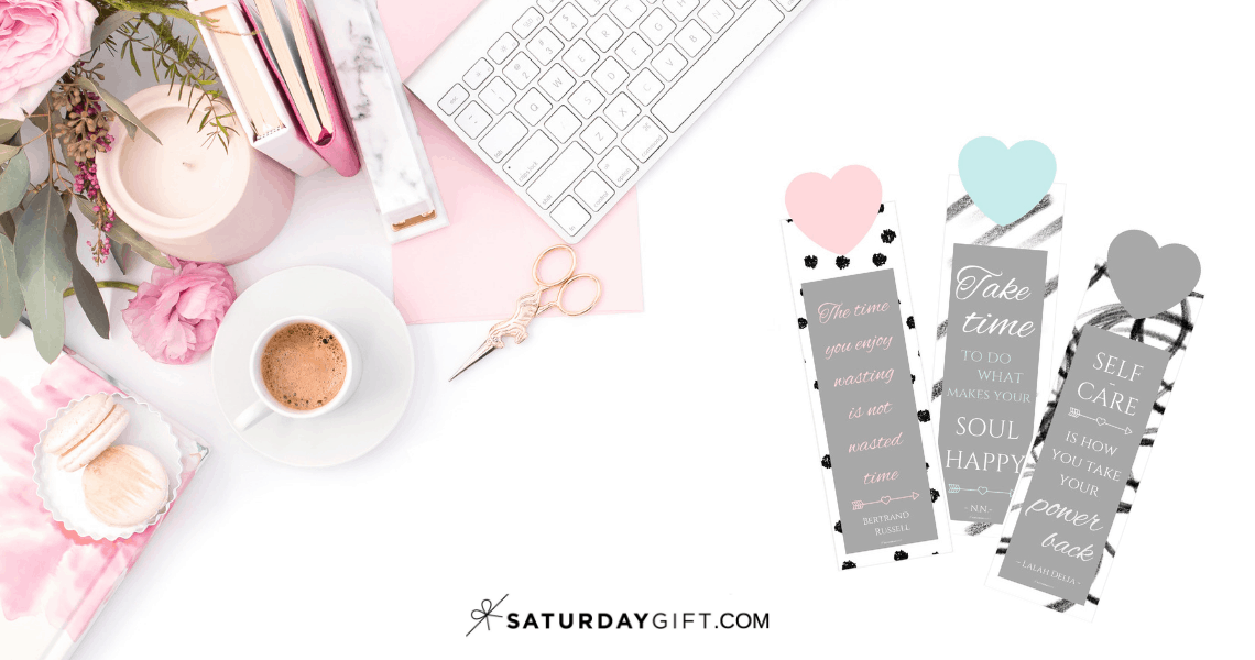 Pretty printable self care bookmarks { Free printables } | Pretty printables | Free printables | Self care | Self love | Self development | Inspirational quotes | Motivational quotes | Quotes | SaturdayGift | Saturday gift #SaturdayGift