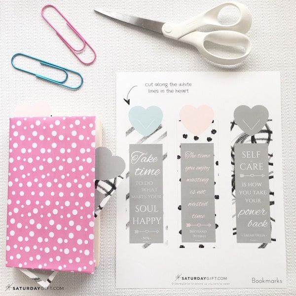 image relating to Cute Bookmarks Printable named Adorable Bookmarks With Self Treatment Rates +Absolutely free Printables