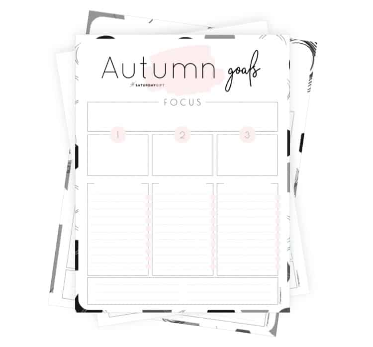 Autumn goals - Set and achieve your autumn goals worksheet {Free Printable}