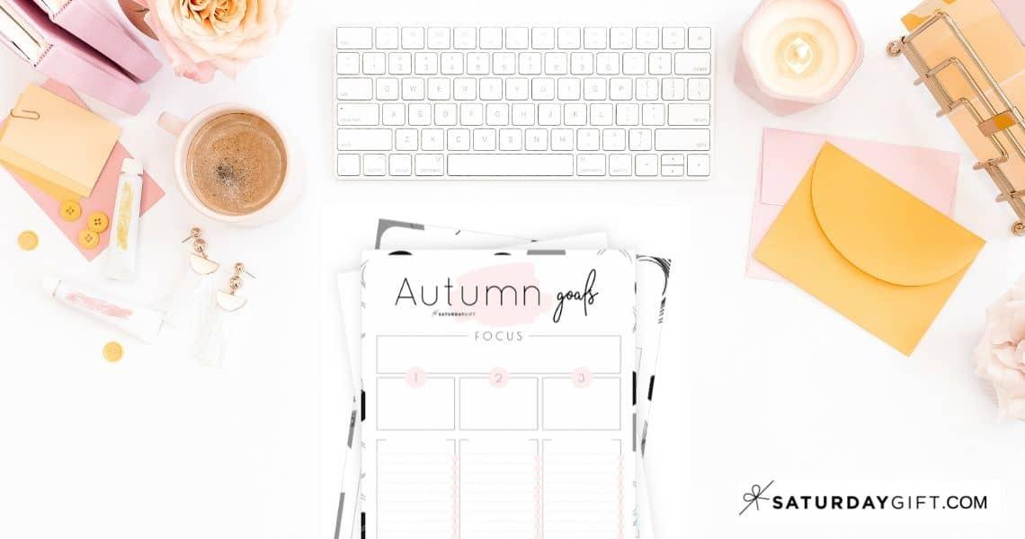 Autumn goals - Set and achieve your autumn goals worksheet {Free Printable}