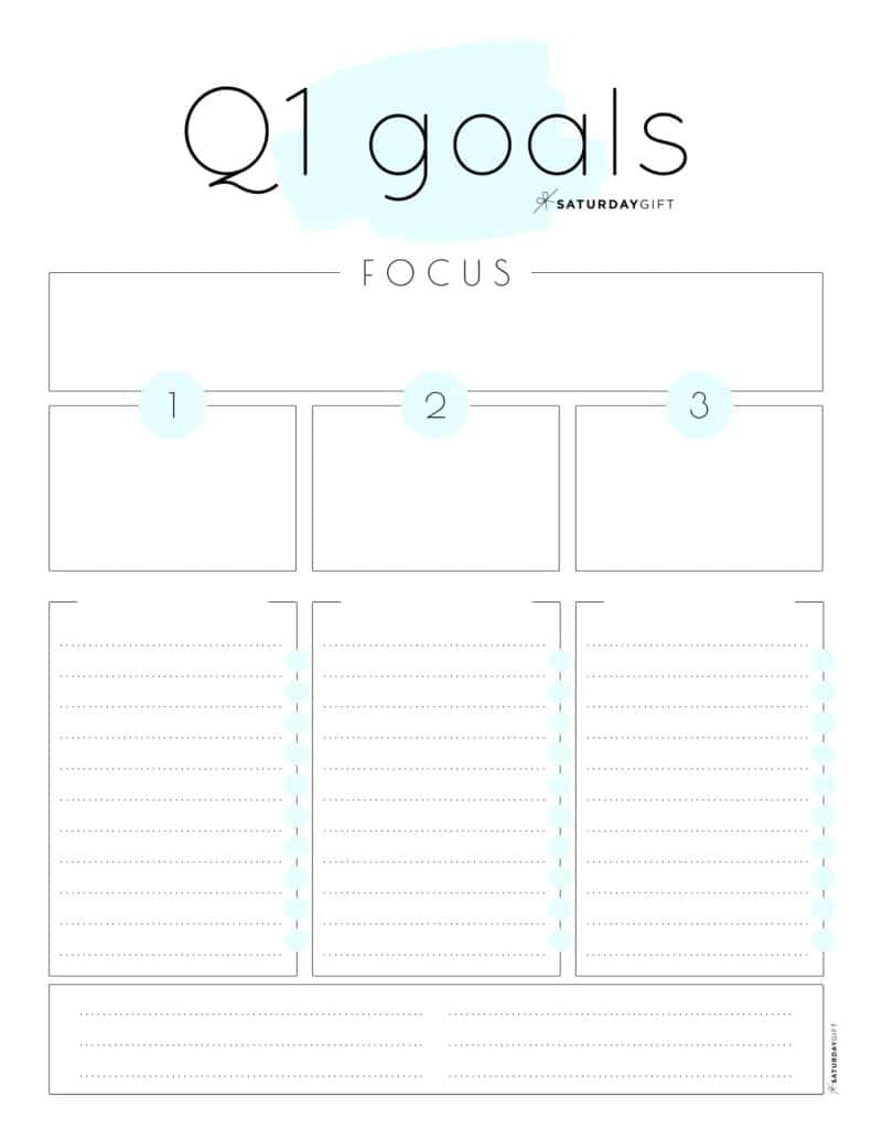 Want to have a simple way to set goals for the first quarter of the year? Awesome! Here's a cute set of practical worksheets that can help you achieve your quarter one goals.