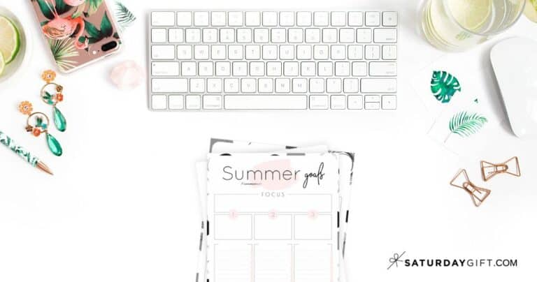 How to Set & Achieve Summer Goals + Summer Goals Worksheet