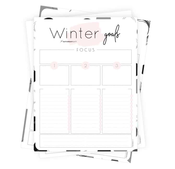 Winter goals - Set and achieve your autumn goals worksheet {Free Printable}
