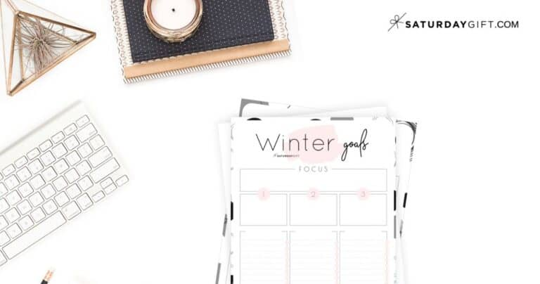 How to Set & Achieve Winter Goals + Winter Goals Worksheets