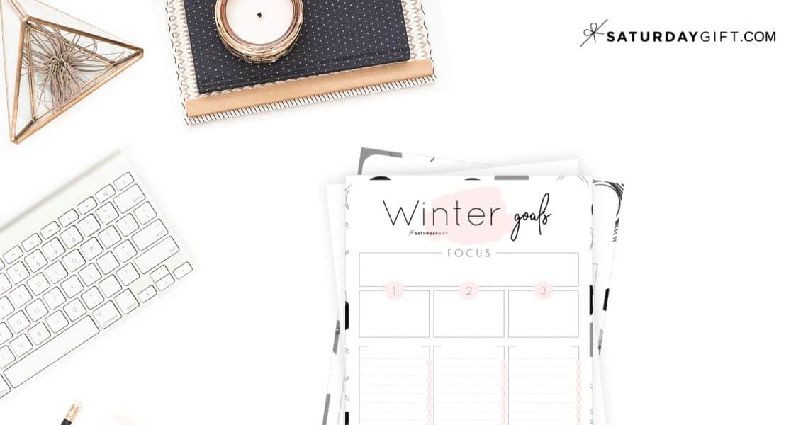 Winter goals - Set and achieve your winter goals worksheet {Free Printable} Featured Image
