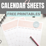 Set and achieve your monthly goals worksheet and calendar free printables | Planner insert | Goal Planning | Goal setting | Goal Achieving | Goal getter | Self Development | Personal Growth | How to set goals | How to achieve goals | SaturdayGift | Saturday gift #SaturdayGift