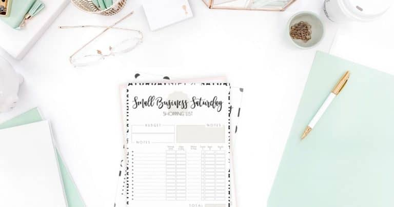 Small Business Saturday Shopping List Printable