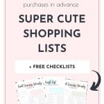 Want to plan ahead your Small Business Saturday shopping, save money and make sure you won't purchase things you didn't plan to buy? Super! Here's a pretty and practical Small Business Saturday Shopping List Printable set that'll help you stay focused with all the amazing deals!