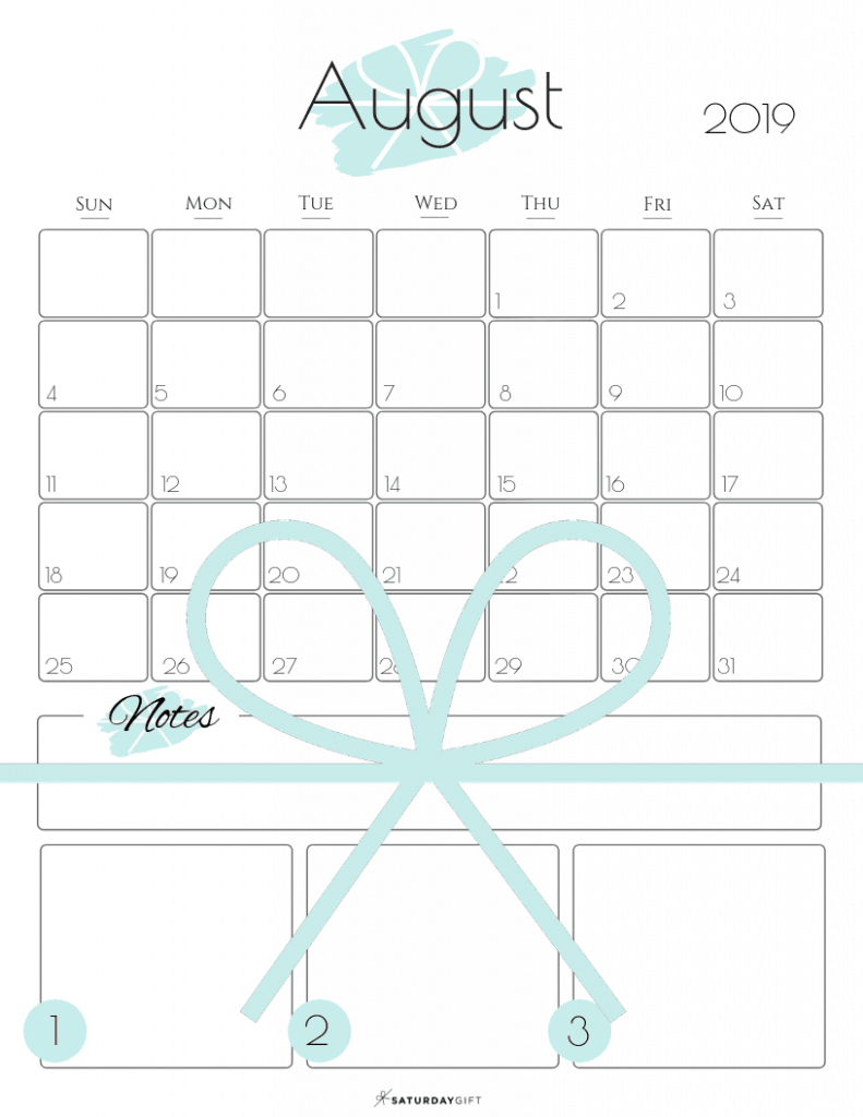 Summer plans and goals calendar August 2019 Light blue - free printables   Multiple sizes   US Letter   A4   A5   Half Letter   Pretty printable   Planner insert   Planning & Organizing   2019 Calendar   Minimalistic & simple   SaturdayGift   Saturday gift #SaturdayGift