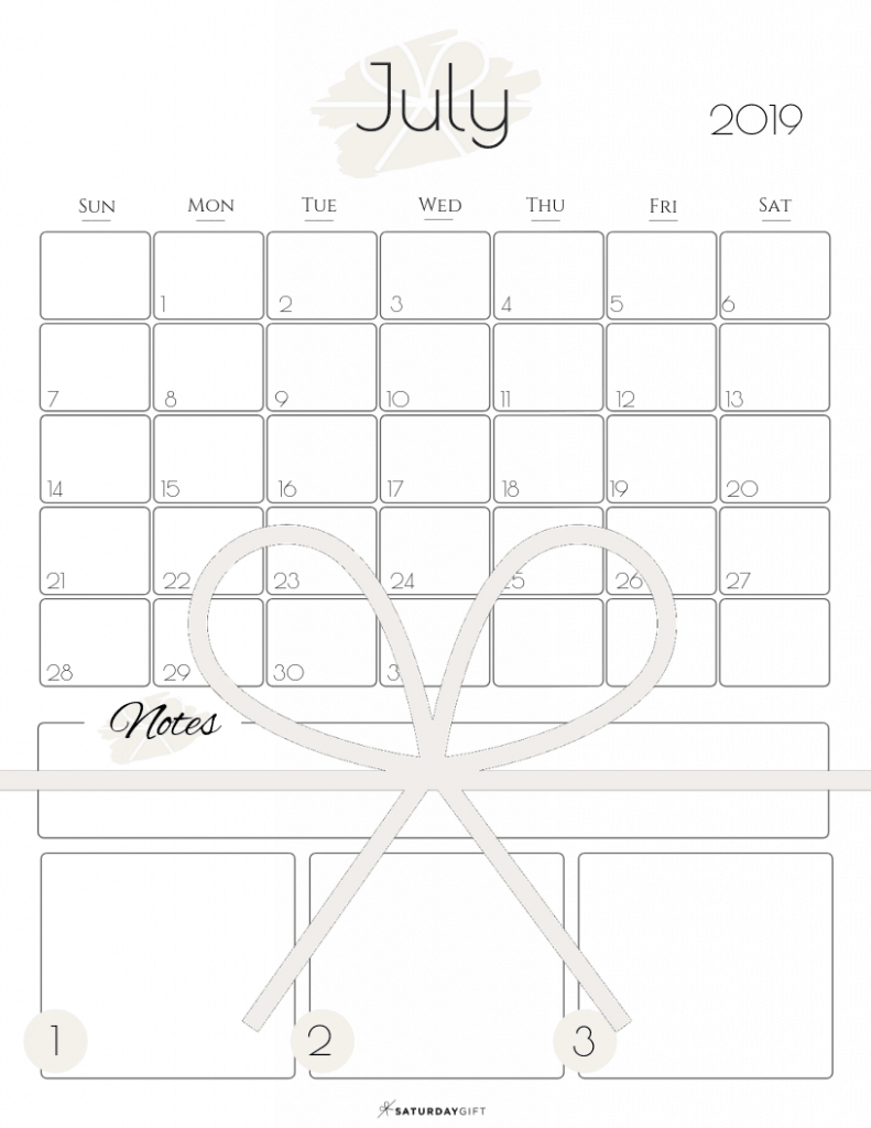 Summer plans and goals calendar July 2019 Light beige - free printables   Multiple sizes   US Letter   A4   A5   Half Letter   Pretty printable   Planner insert   Planning & Organizing   2019 Calendar   Minimalistic & simple   SaturdayGift   Saturday gift #SaturdayGift