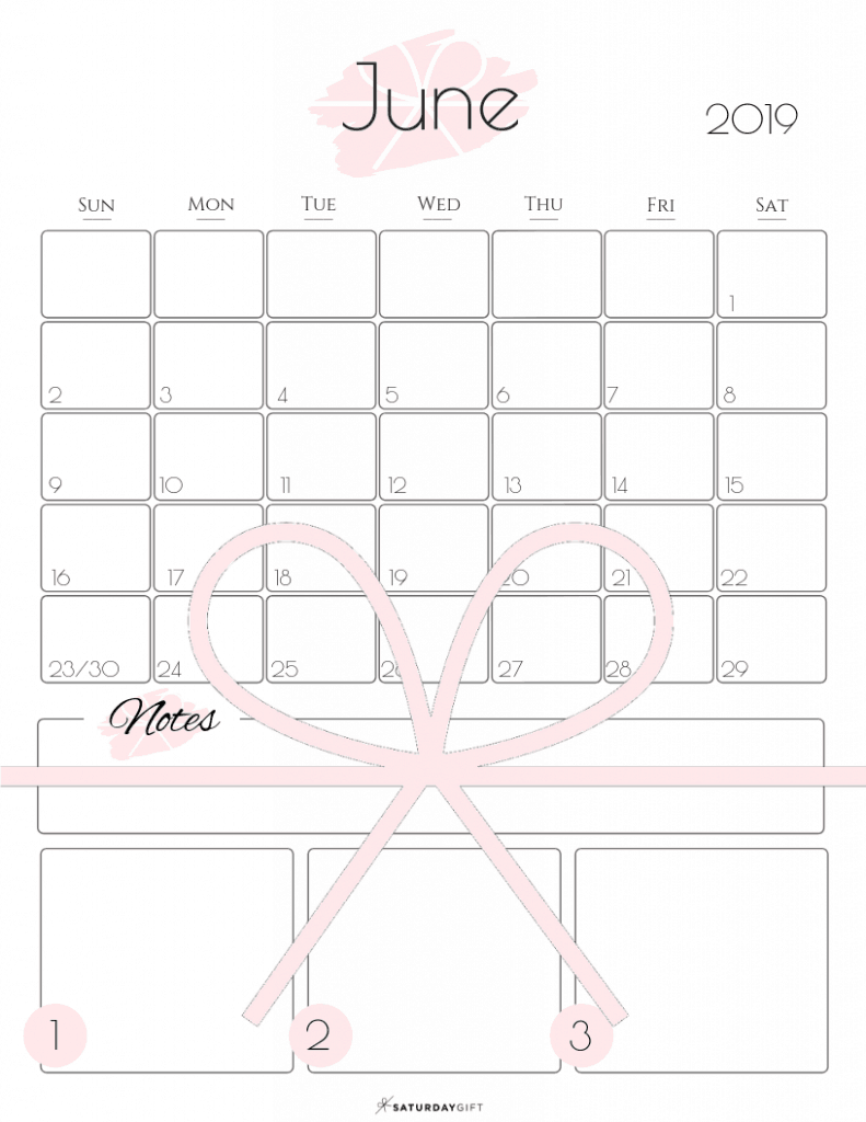 Summer plans and goals calendar June 2019 Light Pink - free printables   Multiple sizes   US Letter   A4   A5   Half Letter   Pretty printable   Planner insert   Planning & Organizing   2019 Calendar   Minimalistic & simple   SaturdayGift   Saturday gift #SaturdayGift