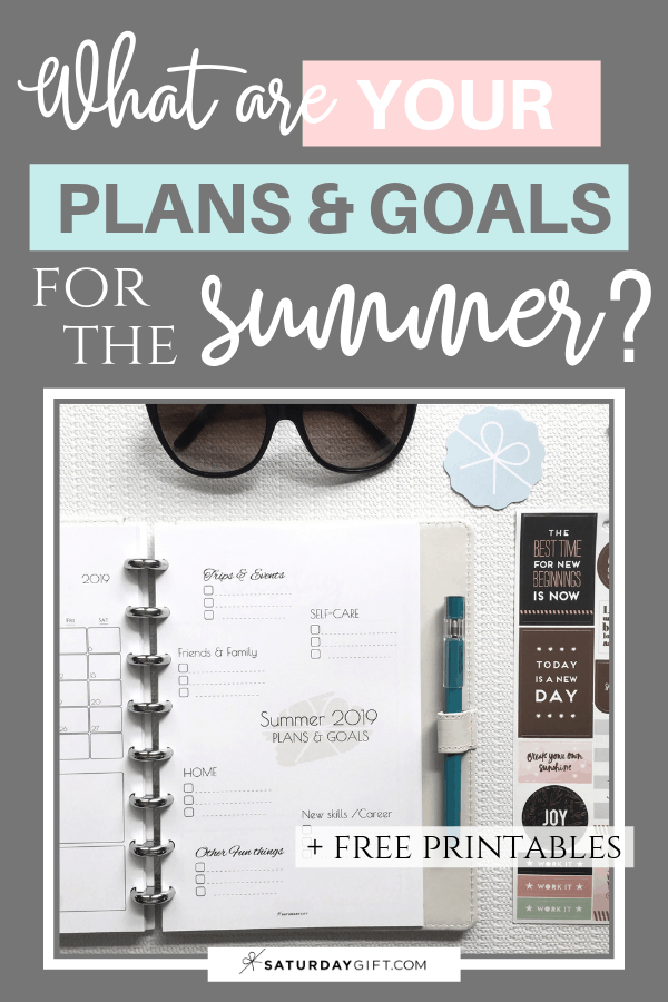 Summer plans and goals calendar June July August 2019 - free printables Pin   Multiple sizes   US Letter   A4   A5   Half Letter   Pretty printable   Planner insert   Planning & Organizing   2019 Calendar   Minimalistic & simple   SaturdayGift   Saturday gift #SaturdayGift