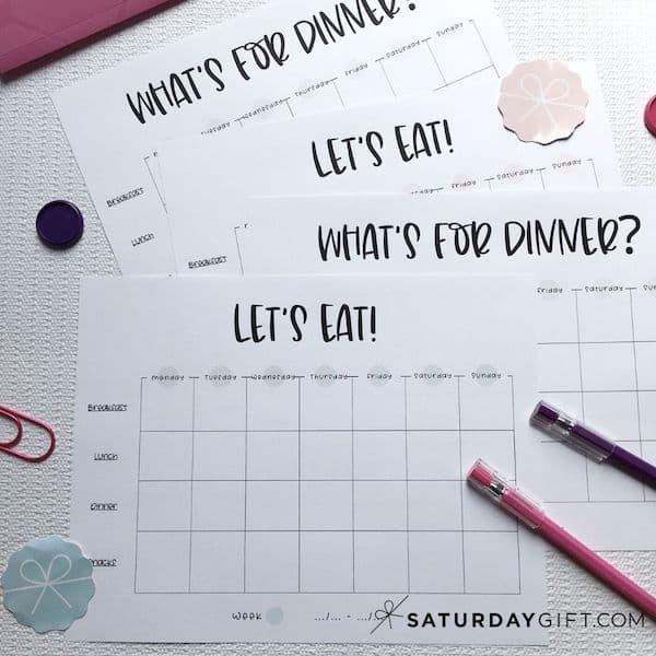 How to start meal planning for beginners | SaturdayGift