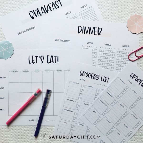 Super Simple Meal Planning - How to start meal planning for beginners   SaturdayGift
