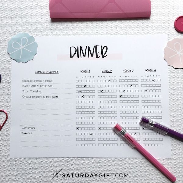 How to start meal planning for beginners   SaturdayGift