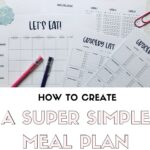 Super Simple Meal Planning - How to start meal planning for beginners | SaturdayGift