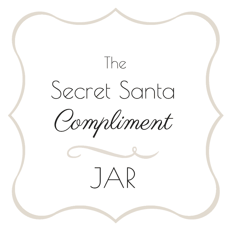 The Secret Santa Compliments jar - free printable | Advent Calendar | Pretty Printables | Free Printables | Compliment Jar | Secret Santa | SaturdayGift | Saturday gift #Saturdaygift #25merrydays