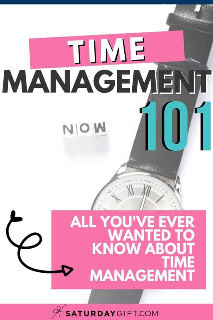 Time management 101 - all questions answered - Pinterest Pin