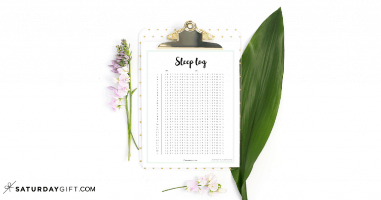 How to Make a Sleep Log and Track Your Sleep + Free Printable Template