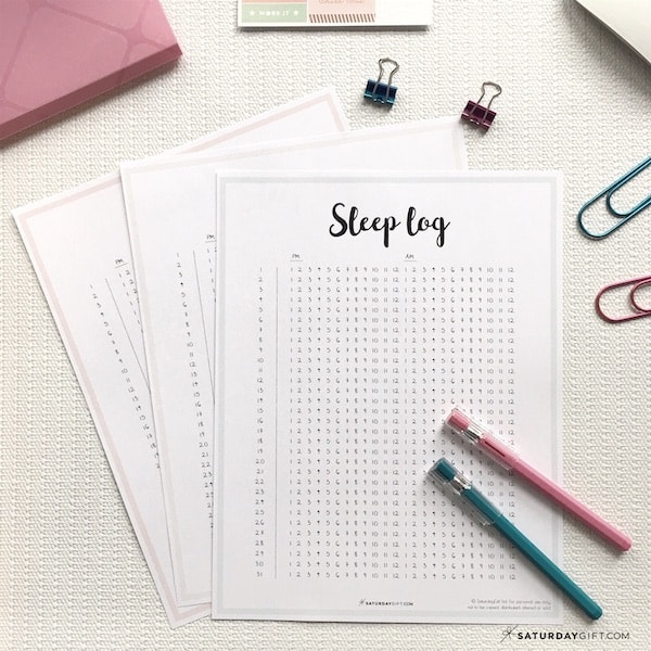 photo about Sleep Tracker Printable known as Rest Log - How Toward Observe Your Slumber with a Slumber Log +Totally free
