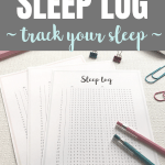 Sleep log to track your sleep Pinterest Image