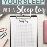 How to use a sleep log to track your sleep Pinterest Image
