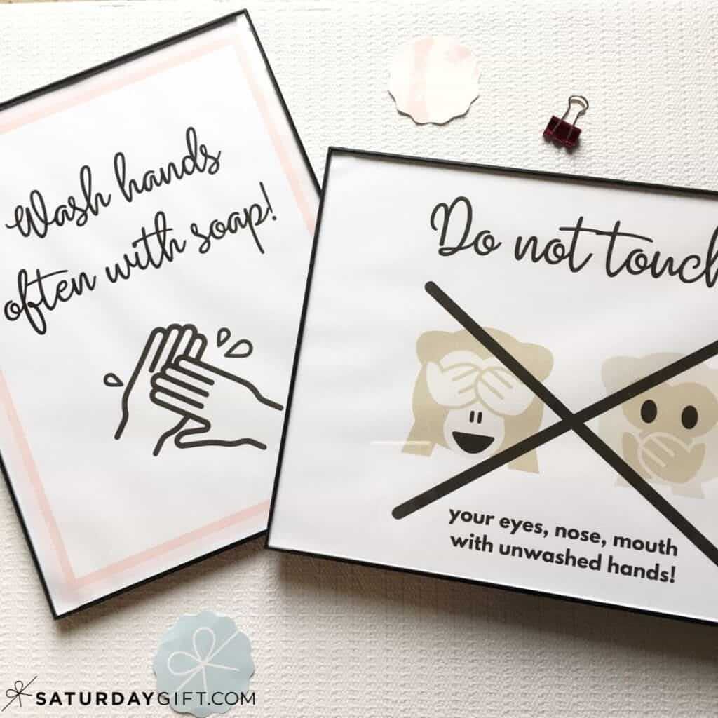 Wash Hands Sign Printable | SaturdayGift