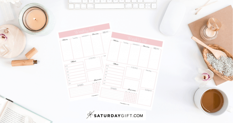 Printable Weekly List Planner – How to Have a Productive Week