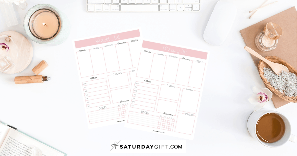 Plan your weekly tasks and goals with the weekly list planner free printable. | Free printable | Planner sheet | Goal Planning | Goal setting | Goal Achieving | Goal getter | Self Development | Personal Development | Planners | Binders | Productive week | How to achieve goals | SaturdayGift | Saturday gift #SaturdayGift