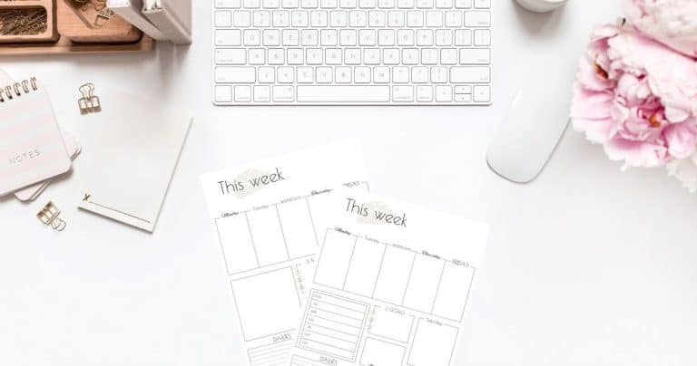 How To Plan An Extra Productive Week + Weekly Planner Template