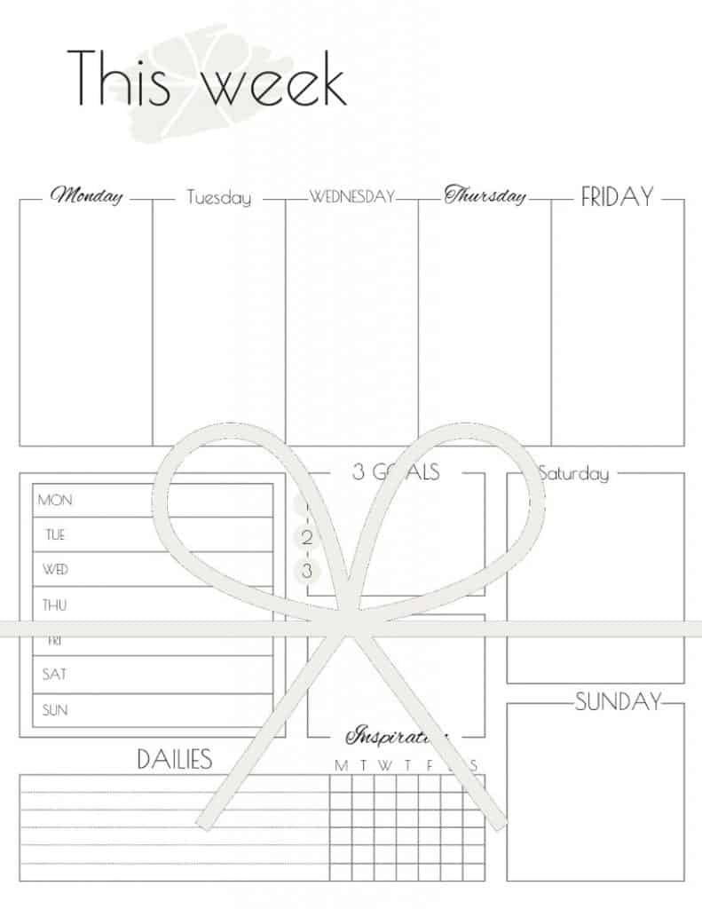 photograph about Productivity Planner Templates referred to as Weekly Planner Template: How In the direction of Application An More Profitable 7 days