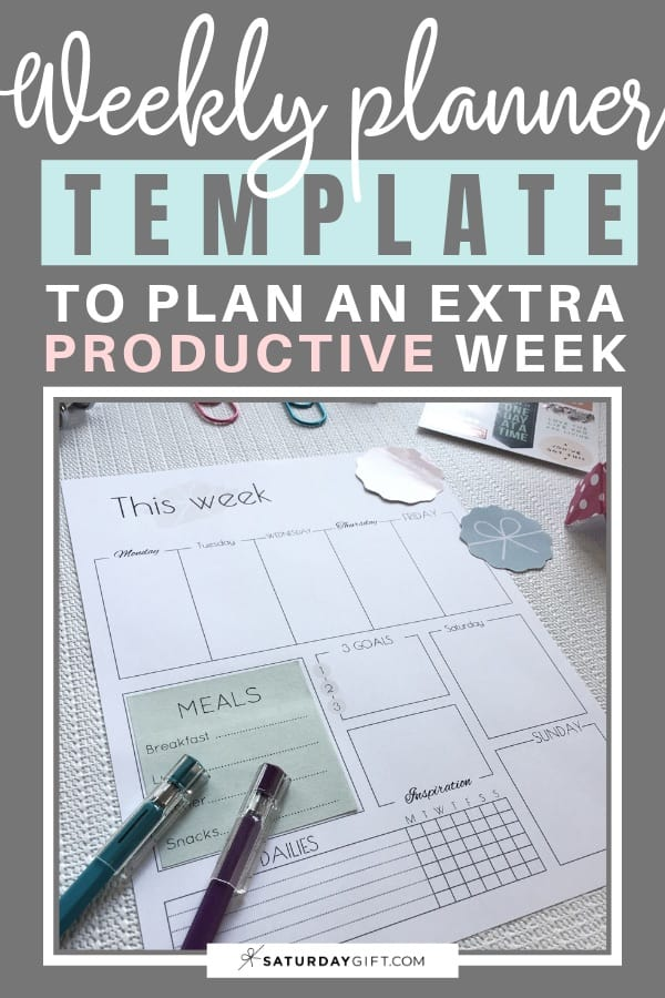 image about Productivity Planner Templates identified as Weekly Planner Template: How In the direction of Application An Excess Successful 7 days