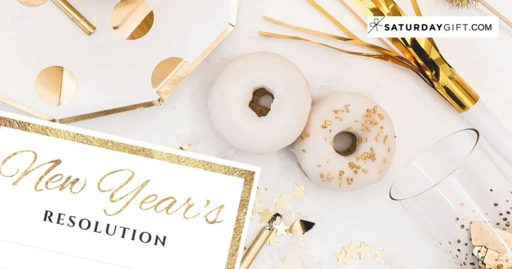 What's your New Year's Resolution Free Printable Featured IMG | SaturdayGift