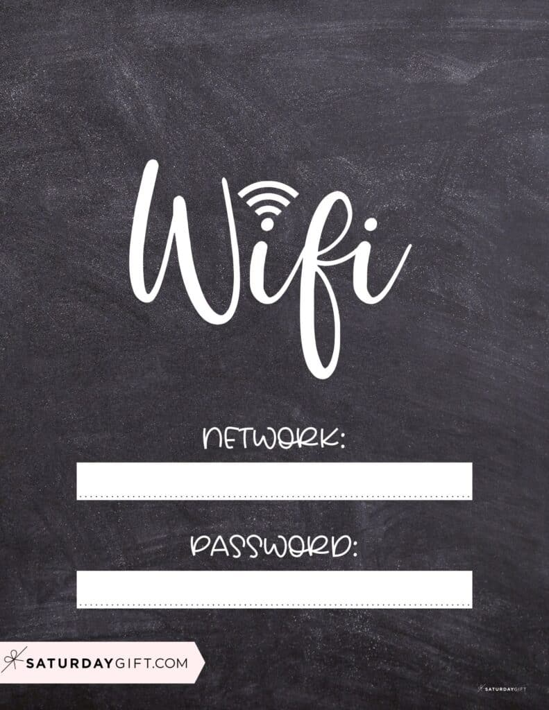 Wifi password chalkboard sign - wifi chalkboard sign   SaturdayGift.jpg