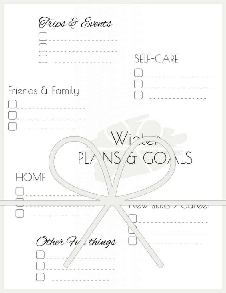 MInimal winter plans and goals worksheet / planner sheet to set goals and create your best autumn yet. | Free printable planner sheet | Beige | US Letter | Resize to fit any planner | Pretty printable | Planner insert | Planning & Organizing | Minimalistic & simple | SaturdayGift | Saturday gift #SaturdayGift