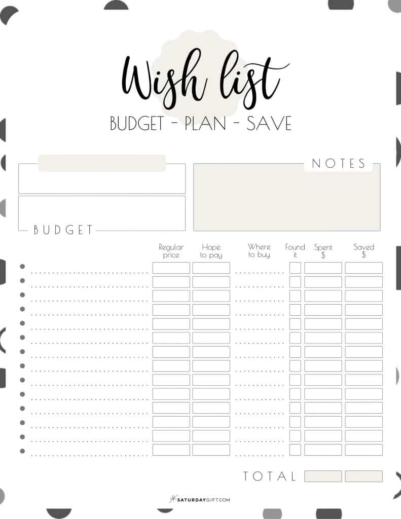 Elegant Beige Worksheet to budget, plan and save