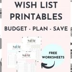 Wish List Printable {Free Worksheet} - Budget Plan Save | SaturdayGift