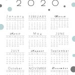 Pretty (and free!) Year at a glance calendar 2020. Click to post and download this pretty & practical calendar and start planning! Free printable calendar.